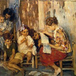 Ettore Tito - La maestrina e i suoi alunni