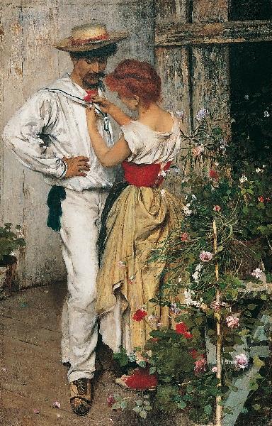 Ettore Tito - La mia Rossa (1888)