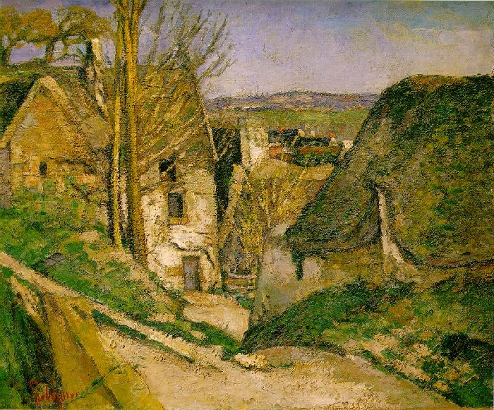 Paul Cézanne - La casa dell'impiccato a Auvers sur-Oise (1872-1873)