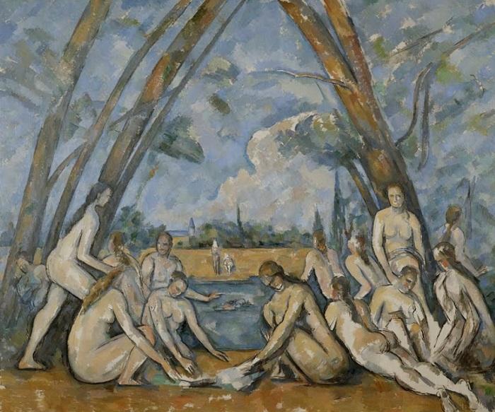 Paul Cézanne - Le bagnanti (1900-1906)