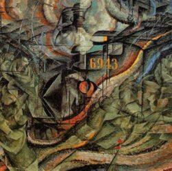 Umberto Boccioni - Stati d'animo II gli addi (1911)