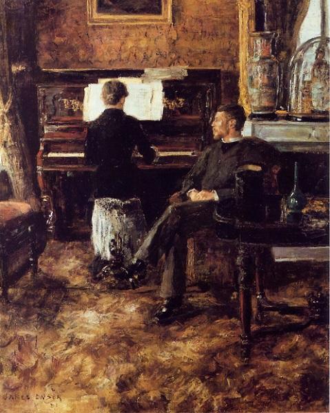 James Ensor - La musica russa (1881)