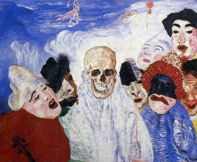 James Ensor - Les Masques et la Mort (1897)