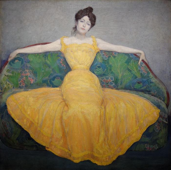 Max Kurzweil - Dama in giallo (1899)