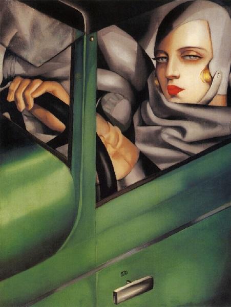 Tamara de Lempicka - Autoritratto sulla Bugatti verde (1929)
