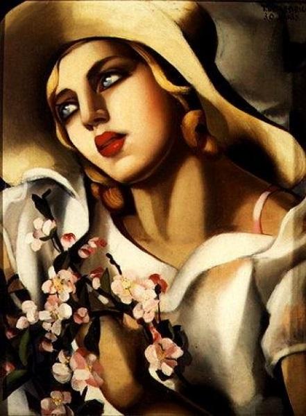 Tamara de Lempicka - The straw hat (1930)