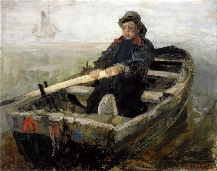 James Ensor - Il rematore (1883)