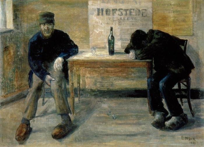 James Ensor - The drunkards (1883)