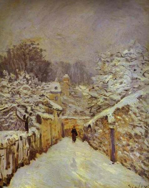 Alfred Sisley - La neige à Louveciennes (1875)