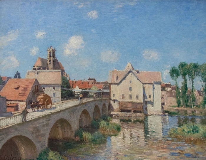 Alfred Sisley - Le pont de Moret (1893)