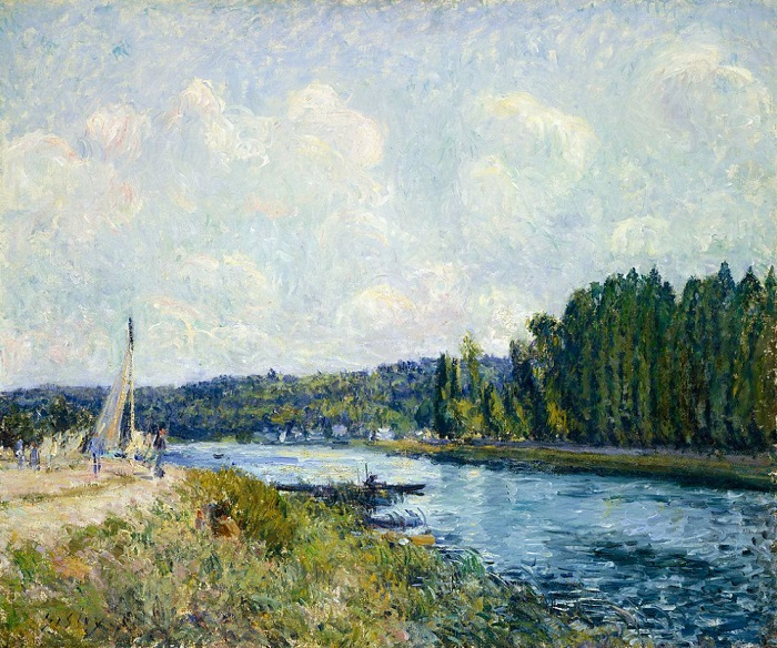 Alfred Sisley - The Banks of the Oise (1877-78)