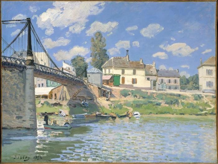 Alfred Sisley - The Bridge at Villeneuve-la-Garenne (1872)