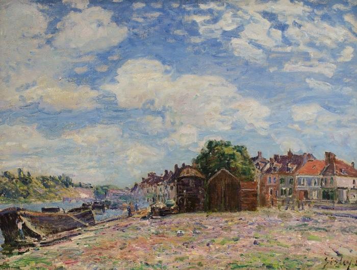 Alfred Sisley - The Loing at Saint-Mammès (1885)