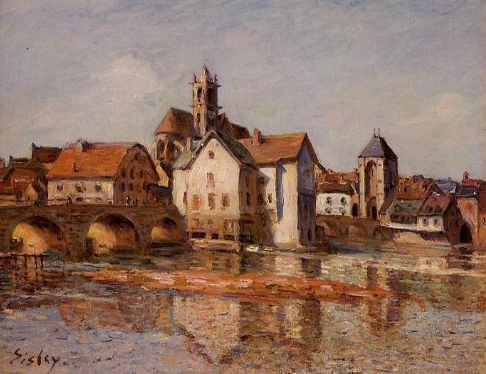 Alfred Sisley - The Moret bridge (1892)